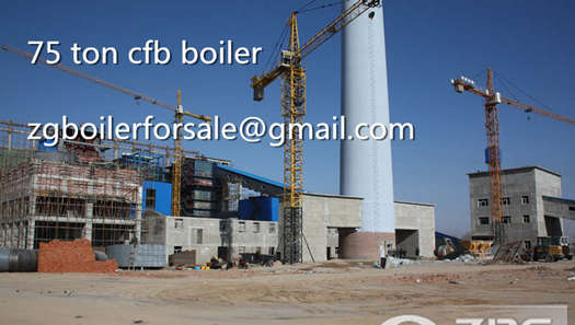 75t coal fired power station boiler in Indonesia