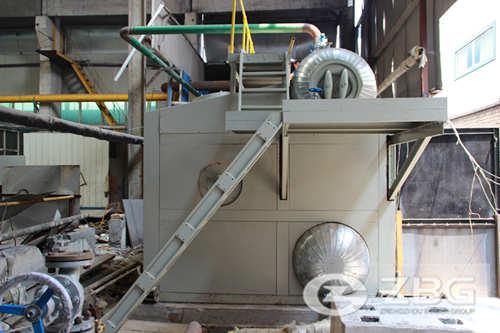 10 ton SZS gas fired steam boiler in Pakistan
