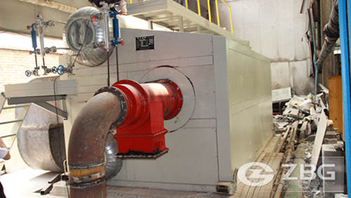 10 ton SZS gas fired steam boiler in Pakistan