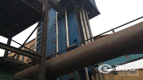 10 ton carbon rotary kiln waste heat boiler in China