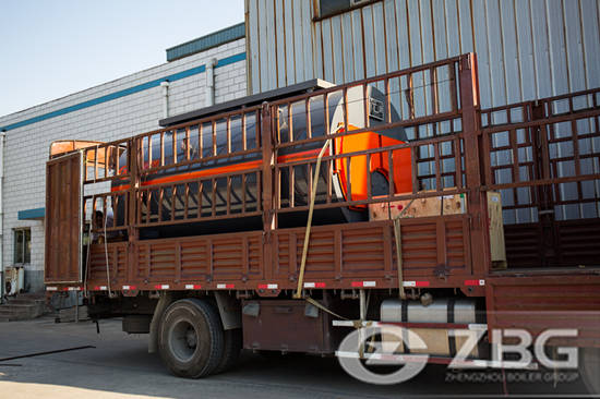 4 ton biogas fired steam boiler for glass plant in Mongolia