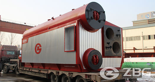 22 ton 18 bar diesel fired steam boiler used for Milk powder factory in Morocco