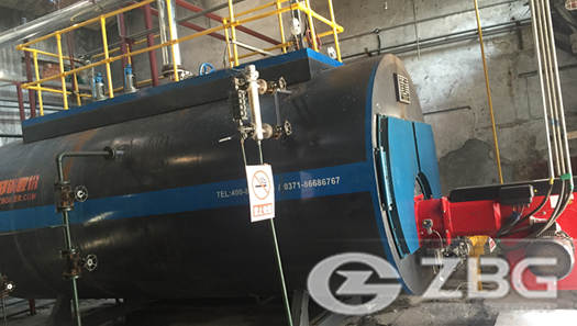 6 ton diesel fired steam boiler for concrete products making in Singapore