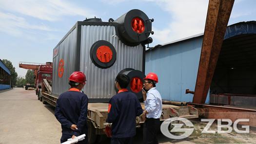 4 ton light oil fired steam boiler for 5 chamber bruckner stenters in Pakistan
