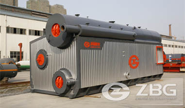 Horizontal steam boiler for instant noodle factory