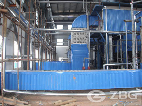 steam boiler in chemical industry